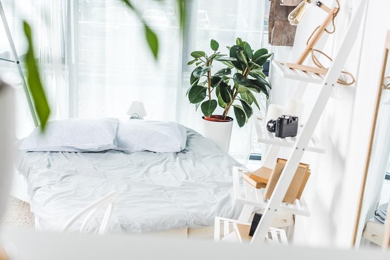 Sypialnia w domu mobilnym
